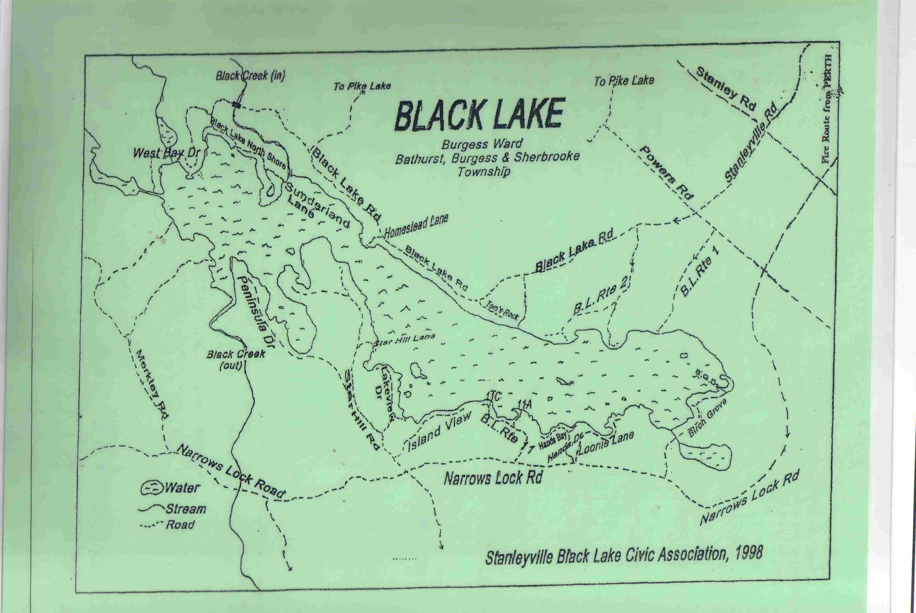 Map of Black Lake